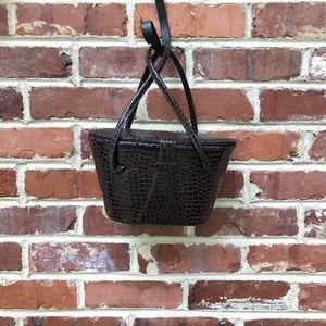 Lassy USA Vintage Croc Bucket Bag Purse Handbag